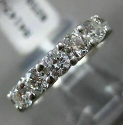 Estate .75ct Diamond 14kt White Gold 3d Classic Round Shared Prong Wedding Ring
