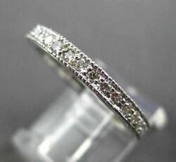 Antique .70ct Diamond 14kt White Gold Filigree Anniversary Eternity Ring 18607