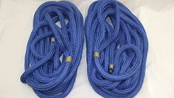 New Pair 2 3/4 X 50and039 Double Braid Nylon Dock Line Mooring Anchor Rope Boat