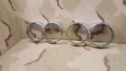1964 64 Left And Right Lincoln Continental Chrome Lh And Rh Headlight Bezels