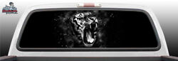Tiger Growling Fantasy Grunge Fangs Rear Window Graphic Decal Suv Truck Car Perf