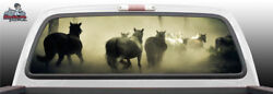 Horses Horse Running In Field Perf Rear Window Graphic Decal Suv Truck Car