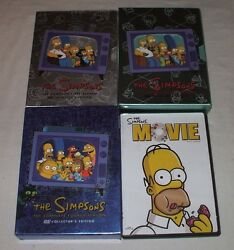 The Simpsons Dvd First, Second, Fourth Seasons And Movie Cartoon Comedy