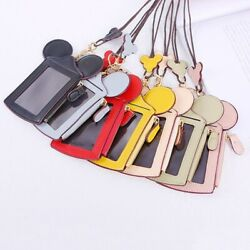 Mickey Mouse Name Id Card Holder Badge Wallet Purse Cruise Tag Neck Lanyard Gift
