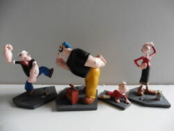 Extremely Rare Popeye With Brutus And Family Figurine Le Of 888 Statue Set