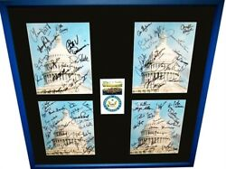 2001 107th US Senate signed 8x10 photos framed Clinton Kennedy Kerry McCain +69