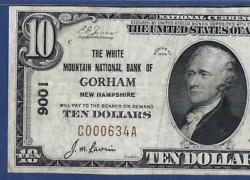 Nh 1929 10 ♚♚gorhamnew Hampshire♚♚ Pmg Ch Vf 35 The White Mountain Nb