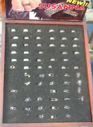 Susanna Toe Ring Display Lot Of Rings Spiral Greek Key Wire 925 Sterling Silver