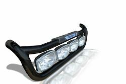 To Fit Scania P G R 6 Series 2009+ Truck Black Grill Bar + Spots + Pads + LEDs