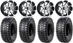 Itp Twister 14 Wheels Machined 30 Chicane Rx Tires Can-am Maverick X3