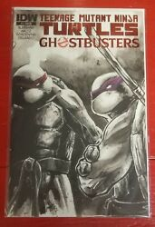 Idw Teenage Mutant Ninja Turtle Ghostbusters 1 Red Foil Cover Rare