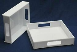Acrylic Serving Trays White Case Of 3 16 Inch Square 2 Inch Sides