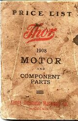 1908 Thor Motorcycle Parts Book In .pdf Format On Cd Antique Reproduction