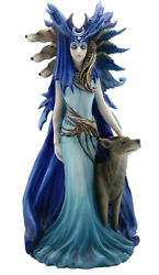 Hekate With Wolves Statue By Marc Potts