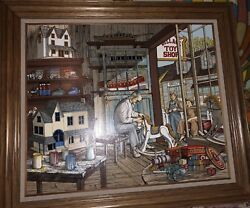 """H. Hargrove """"the Toy Maker"""" - 1986- 20"""" X 24""""framed Serigraph 175/750"""