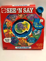 Vintage See And039n Say Liand039l Zoo Pals Red Talking Animal Spinner Mattel 1991 In Box
