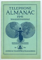 1941 Bell System, American Telephone And Telegraph Co. Atandt Almanac, 32 Pages