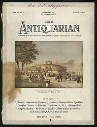 Antiquarian Monthly Magazine For The Collector Of Antiques Works Of Art 1st 1927
