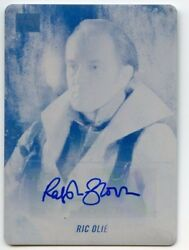 2018 Topps Star Wars Galaxy Printing Plate Auto 1/1 - Ralph Brown As Ric Olie