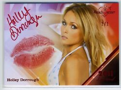 2011 Benchwarmer Limited Auto/autograph Kiss Card - Holley Dorrough 1/1