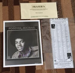 Michael Jackson Signed 8x10 Photo With Coa From Frasers Auction, Early Autograph