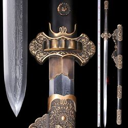 Highest grade DaYu Sword Refinings Cloud pattern Steel clay tempered sharp #0062