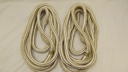 New Pair 2 3/4 X 35and039 Double Braid Nylon Dock Line Mooring Anchor Rope Boat