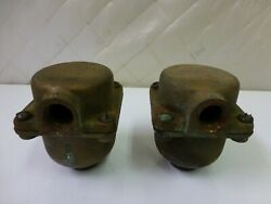 American Motors Co. Brass Joints Or Caps Auto Parts Industrial Steampunk Rare