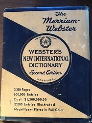 Webster's New International Dictionary 2nd Edition Unabridged with dust jacket