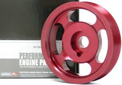 Obx Anodized Red Pulley Set For 93-97 Vw Passat 94-03 Jetta Iii Iv 2.8l V6 Sohc