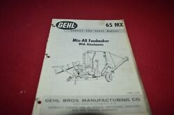 Gehl 65 Grinder Mixer Feed Mill Dealers Parts Book Mfpa