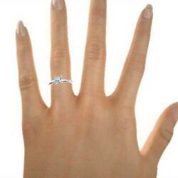 0.8 Carat Solitaire 18k White Gold Princess Cut Diamond Ring Real Size 6 7 8