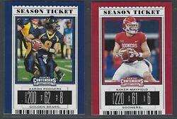 2019 Panini Contenders Draft Picks Football 1-100 Complete Your Set You Pick
