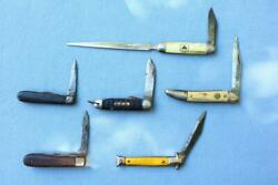 Knife Knives Lot Mixed Estate Find Asis Mix Usa Advertising Unusual Old Bag3 Wc
