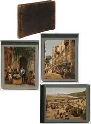 Photo Album Early Photochrom Color Prints Of Egypt / 1890