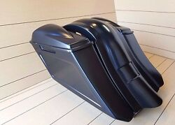6down And Out Extended Bags/fender With 6x5 Lids For Touring Models 96-2008