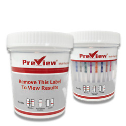 Preview 12 Panel Drug Test Cup Amp,bar,bup,bzo,coc,mtd,mdma,met,opi,oxy,pcp,thc