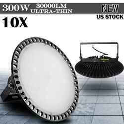 10pcs 300W LED High Bay Light Ultra-thin Warehouse Fixtures Industry Office Lamp