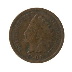 Raw 1908-s Indian Head 1c Uncertified Ungraded Circulated Us Cent Coin