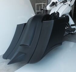 97-2008 Harley Stretched Saddle Bags Overlay Fender For Touring Flh 7 No Lids