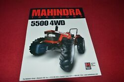 Mahindra 5500 4wd Tractor Dealers Brochure Cdil
