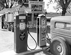 1940 Gas Station Arvin California Vintage/ Old Photo 8.5 X 11 Reprint