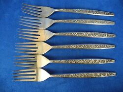 1965 International Sterling Silver Valencia 6 Forks 7 1/2