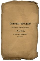 William S Dillingham / Cover Title United States Historical And Statistical 1st