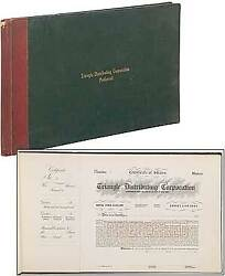 D W Griffith / Stock Book Triangle Distributing Corporation Preferred 1915