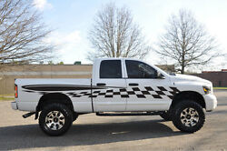 Checkered Flag Race Pickup Vinyl Decal Graphic Vehicle Suv Truck Car