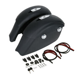 Black Saddlebags W/ Electronic Latch For Indian Chieftain Roadmaster Springfield