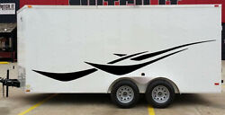 Curved Stripes Tribal Race Pickup Trailer Rv Vinyl Decal Graphic Truck Vehicle