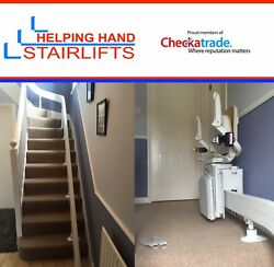 Curved Stairlift Refurbished Full Fitting Service - One 90 Degree Turn Andpound1995
