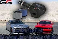 Fits Challenger Charger Srt Hellcat Full Carbon Fiber Cold Air Intake System